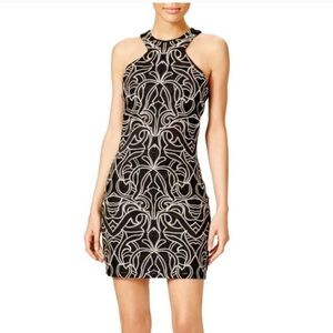 Parker Black and Metallic Dress